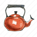 kettle, tea, water icon