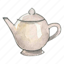 beverage, ceramic, drink, tea, teapot icon