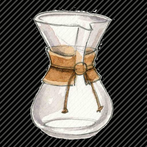 chemex, coffee, drip, pour-over icon