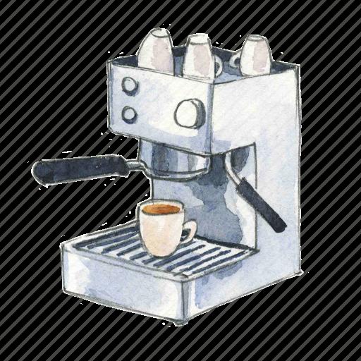 coffee, espresso, machine icon
