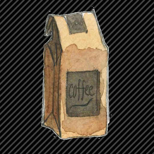 bag, coffee icon