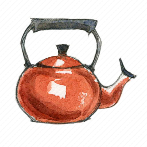 kettle, tea, water icon