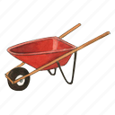 cart, garden, gardening, wheelbarrow icon