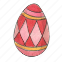 diamond, easter, egg, holiday, spring icon
