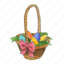 basket, easter, egg, holiday, spring icon