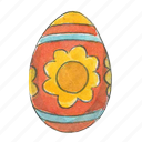 easter, egg, flower, spring icon