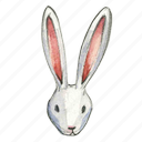 bunny, easter, head, rabbit icon