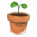 flower, garden, gardening, plant, pot, potted, seed, seedling, spring, sprout icon