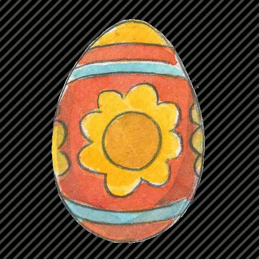 easter, egg, flower, spring icon