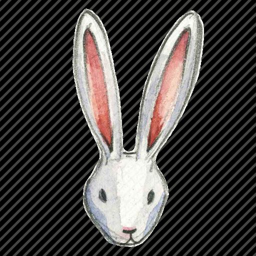bunny, easter, head, rabbit icon