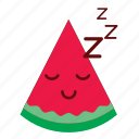 cute, face, happy, smiley, sticker, watermelon icon