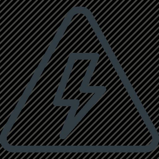 find, high, sign, voltage, wayfinding icon