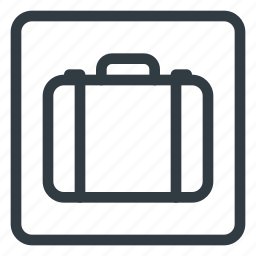 find, luggage, service, sign, wayfinding icon