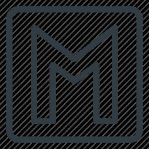 find, metro, sign, station, wayfinding icon
