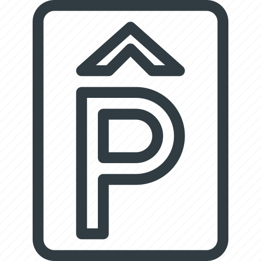 find, house, parking, sign, wayfinding icon