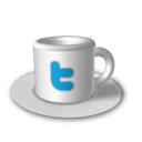 coffee, cup, twitter icon