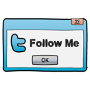 dialog, follow me, twitter, window icon