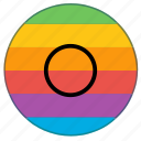 asexual, genderless, lgbt, neuter, pride flag, rainbow, sexless icon
