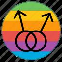 boy, double, lgbt, male, man, pride flag, rainbow icon