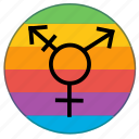 gender, lgbt, pride, pride flag, rainbow, transgender icon