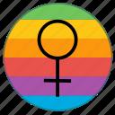 female, girl, lady, pride flag, venus, woman, women icon