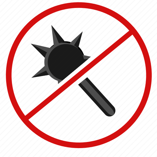 cancel, cold, hand, weapon icon