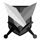 army, battle, shield, sword, war, weapon icon