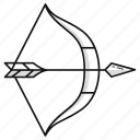 arrow, bow, survival, war, weapon icon