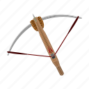 arrow, bowstring, crossbow, weapon icon