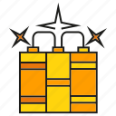 armor, arms, blast, bomb, dynamite, weapon icon