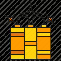 armor, arms, blast, bomb, dynamite, weapon icon