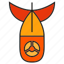 bomb, explode, missile, nuclear, rocket, weapon icon