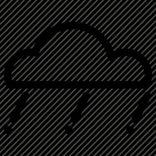 cloud, light rain, rain, weather icon
