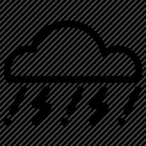 cloud, rain, tunderstorm, weather icon