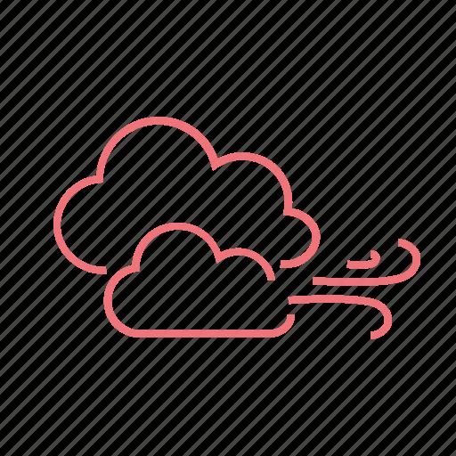 blow, breeze, clouds, season, weather, wind, windy icon