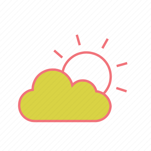 cloud, cloudy, heat, summer, sun, sunrise, sunset icon