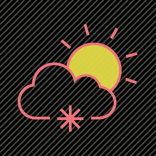 cloud, forecast, hailstones, snow, snowfall, weather, winter icon