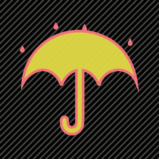 climate, drizzle, rain, raining, storm, umbrella, weather icon