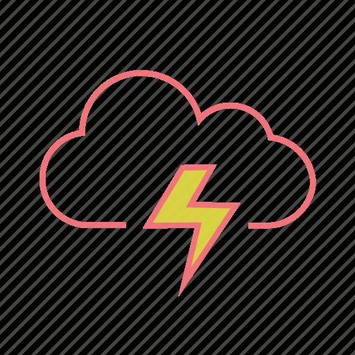 cloud, lightning, rain, storm, thunder, thunderstorm icon