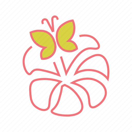 butterfly, floral, flowering season, garden, nature, spring icon