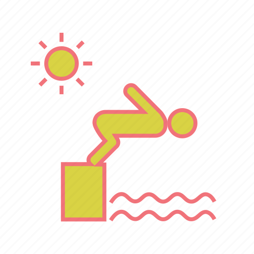 Jump, man, sport, summer vacation, swim, swimming, swimming pool icon - Download on Iconfinder
