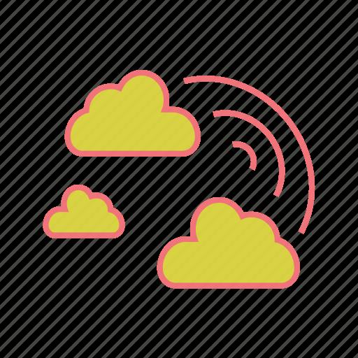 clouds, colour, rain, rainbow, spectrum, vibgyor, weather icon
