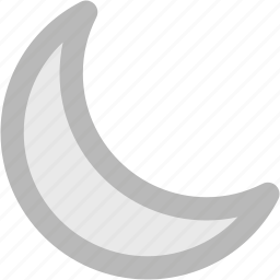 crescent, lunar, moon, new moon, night, waning moon, weather icon