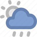 cloudy, raining, sunrise, sunset, weather, winter icon