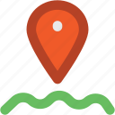 location, location mark, navigation, water location, water navigation icon