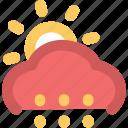 cloudy, rain, raining, sun, sunny rain, weather icon
