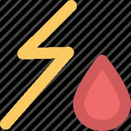 drop, power, storm, thunder, thunder bolt, thunder lightning, thunderstorm, weather icon