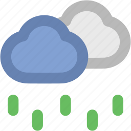 atmosphere, cloud, rain, raindrops, raining, rainy weather, weather icon