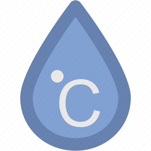 celsius, celsius drop, degree, temperature, zero degrees icon