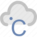 celsius, celsius cloud, degree, temperature, zero degrees icon